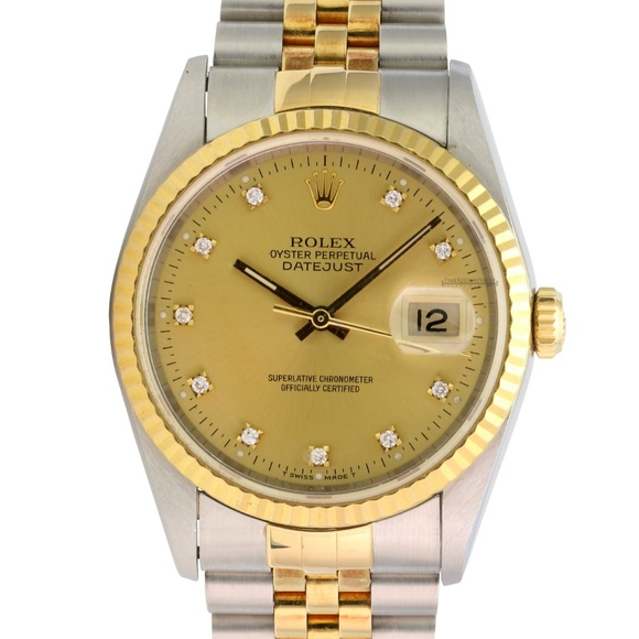 Rolex Other - Rolex Datejust 16233 Factory Diamond Dial 36mm
